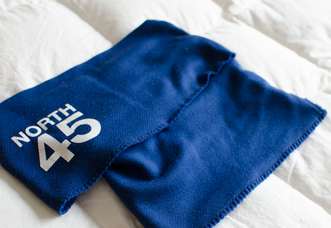Side view of the North45 scarf