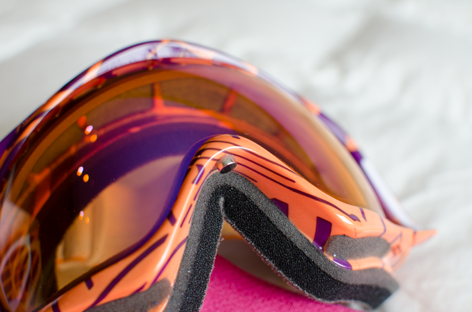 Goggle attachment is small and discrete and sticks easily to any surface but can be removed without damaging the goggles
