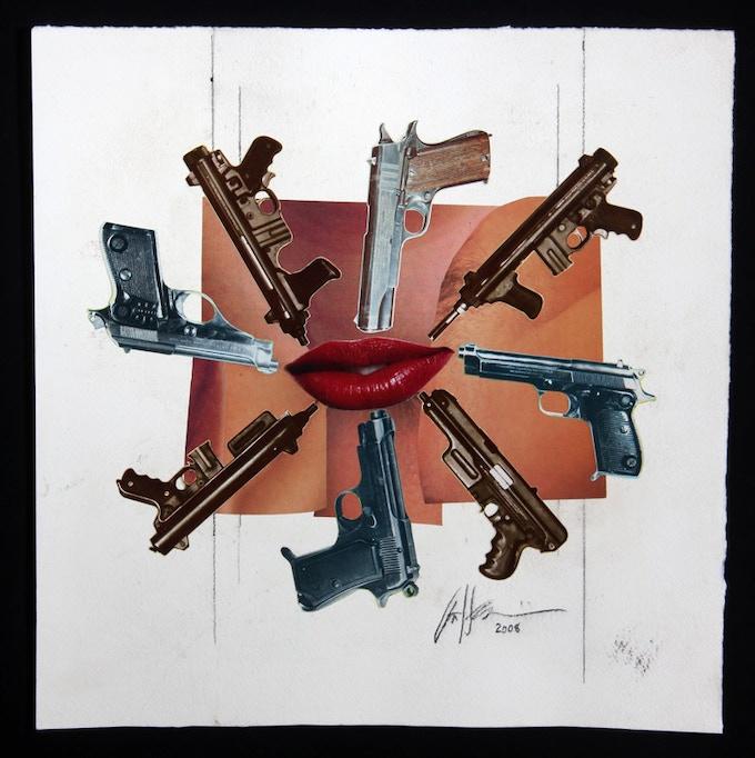 """Lips, Guns"" Oratory CD tray back original artwork"