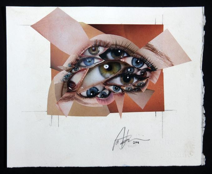 """Eyes"" Oratory CD tray original artwork"