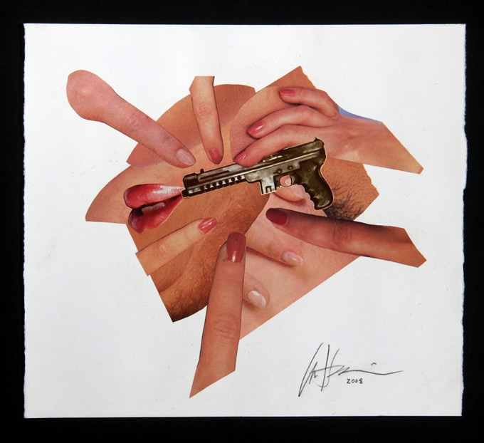 """Fingers"" Oratory original artwork CD face"