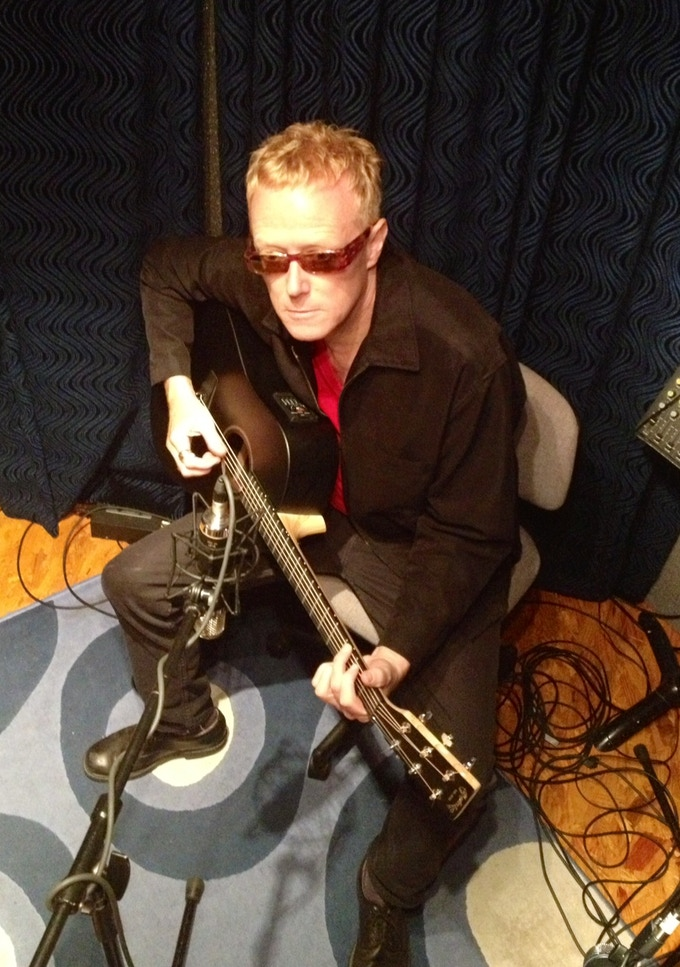 David J with 'Black Beauty' Martin guitar used on album.
