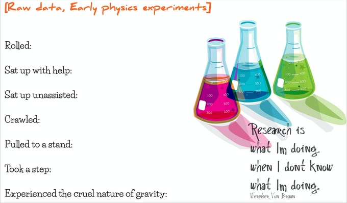 Early physics experiments!