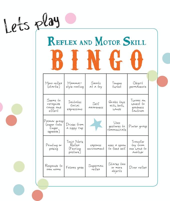 Reflex milestone bingo! - jot dates in each square