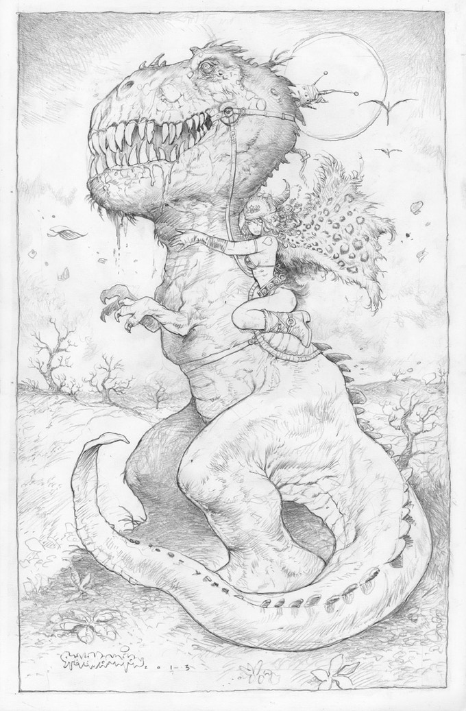Dino Chick Drawing Above.