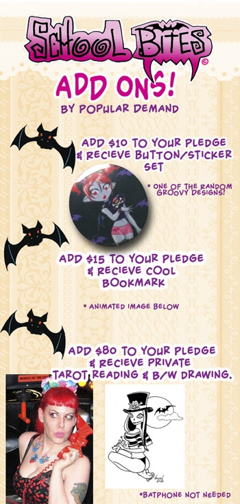Just add the amount need of Add On you desire & don't forget to message me your Updated Pledge Goodies! OH and the Bookmark viddy was being naughty BUT you can view it in the Project Video!