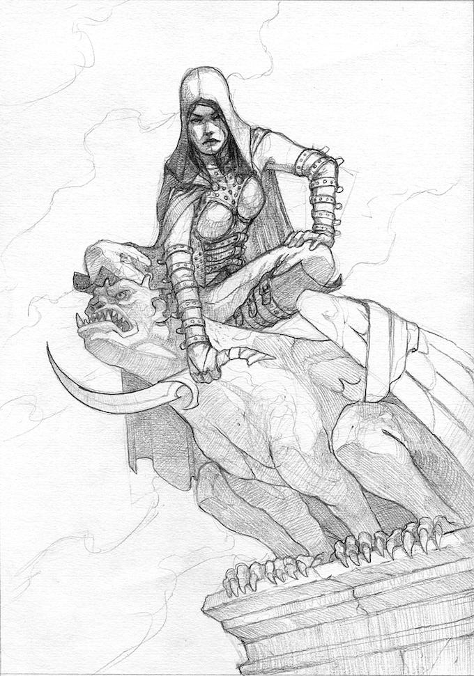 Assassin - Final sketch before paint Alex Stone.