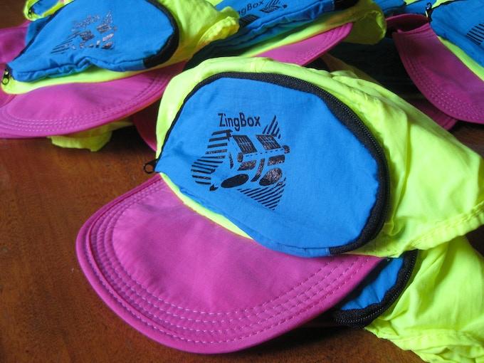 Cap-Sac hat with custom logo!