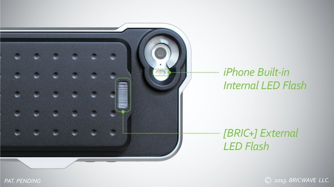 * MODEL: [BRIC+] 2450mAh Machined Aluminum Power Case with NO 3.5X Optical Lens | Silver/Black