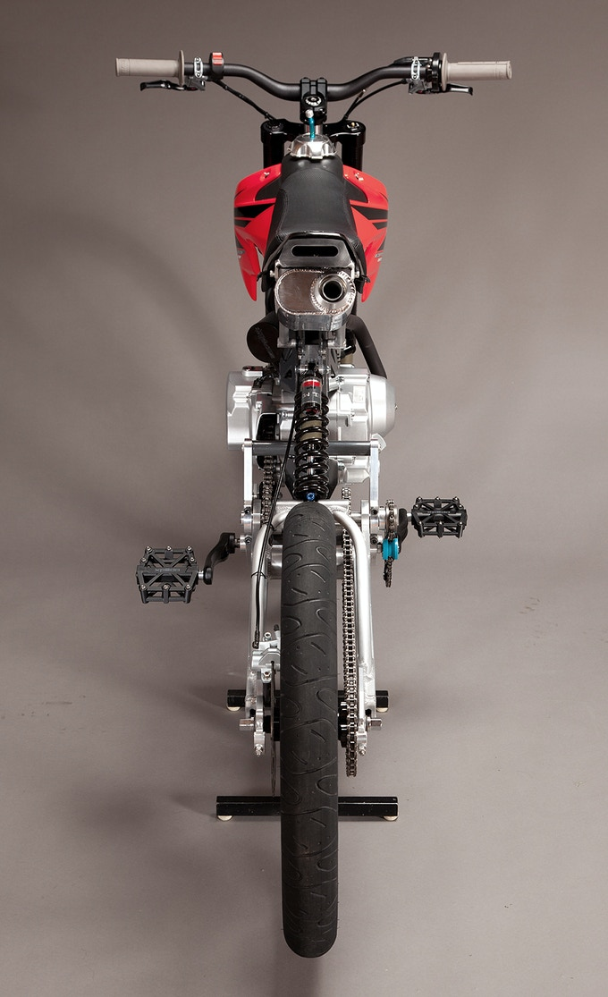 Assembled Motoped - back view