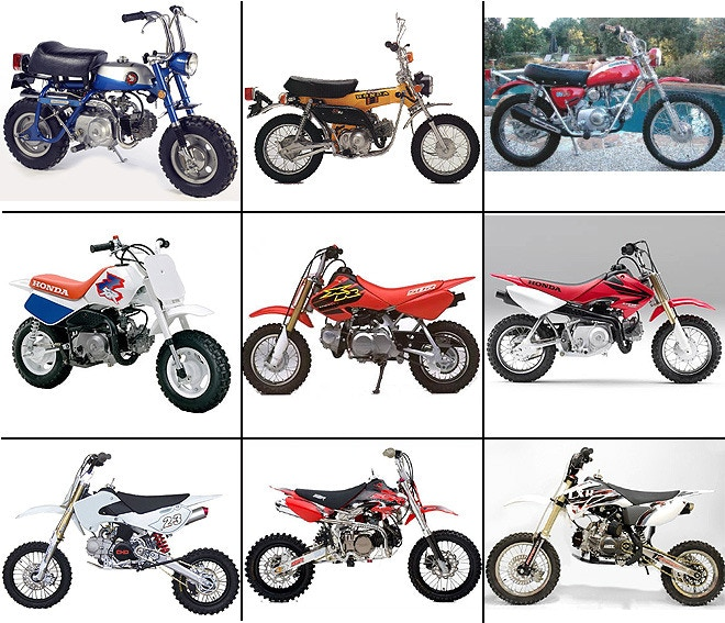 Examples of bikes that use xr50/pitbike engines
