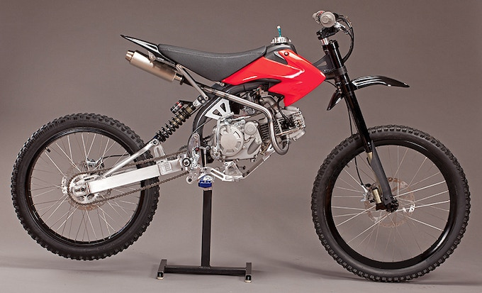 Motoped with 155cc engine and optional foot-peg kit
