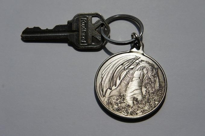Fire Dragon Keychain - Add On Item