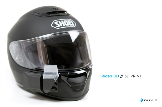 The First Head Up Display For Motorcycle Helmets By Nuviz