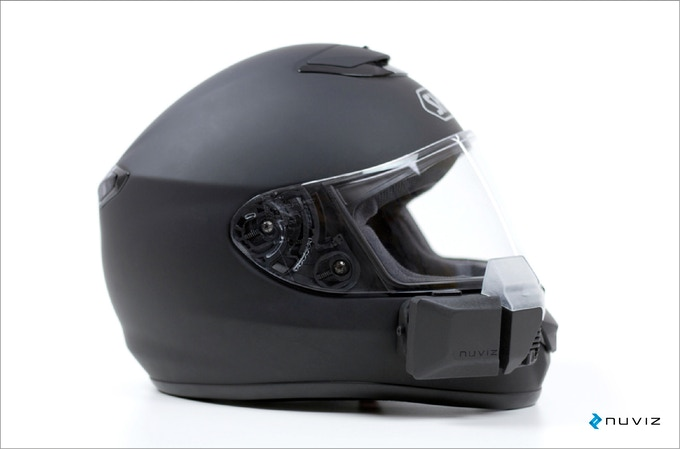 The first HEAD-UP DISPLAY for MOTORCYCLE HELMETS by NUVIZ
