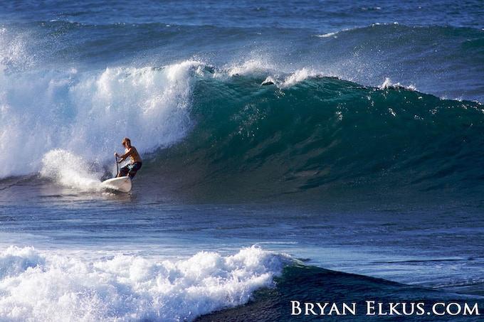 Split Board in use in Hawaiin surf