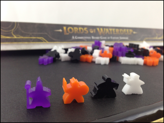 6mm Acrylic Meeples for Lords of Waterdeep