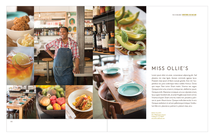 Miss Ollie's layout with dummy text