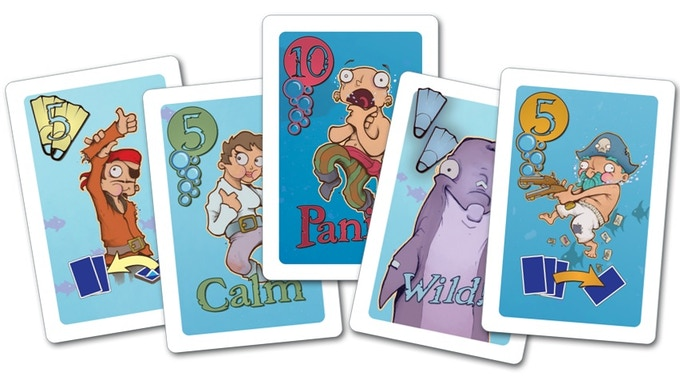 Some sample cards from the game