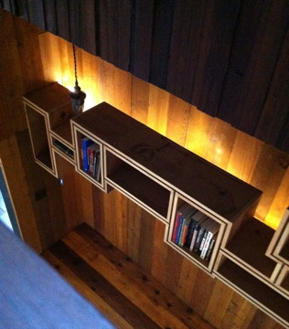 Entry shelf at the Black Cinema House-Dorchester Projects