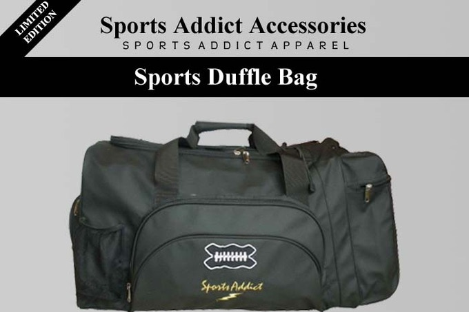 For a donation of $125, you will receive our SportsAddict duffle bag.