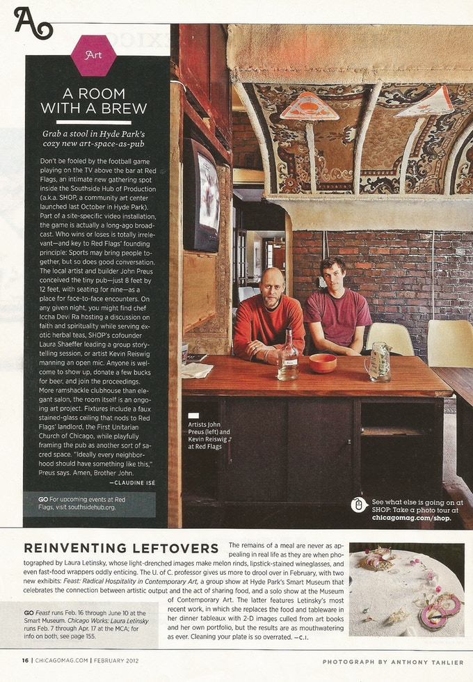 Red Flags Saloon-as installed in SHoP-reviewed in Chicago Magazine