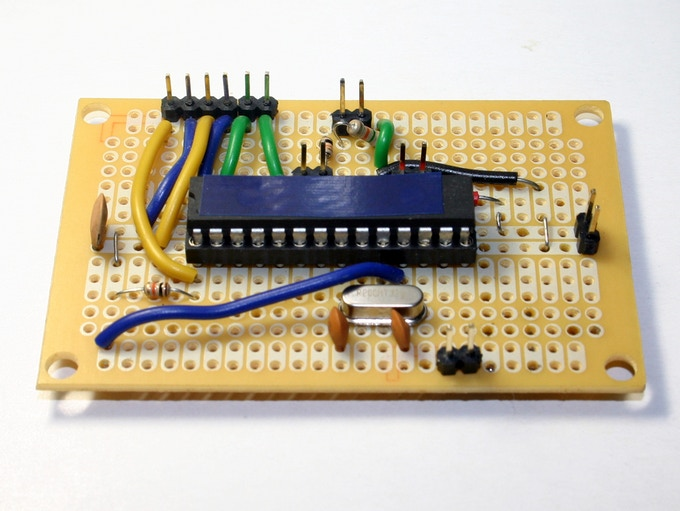 EkZee Circuit Tested on a General Purpose PCB, Component Side