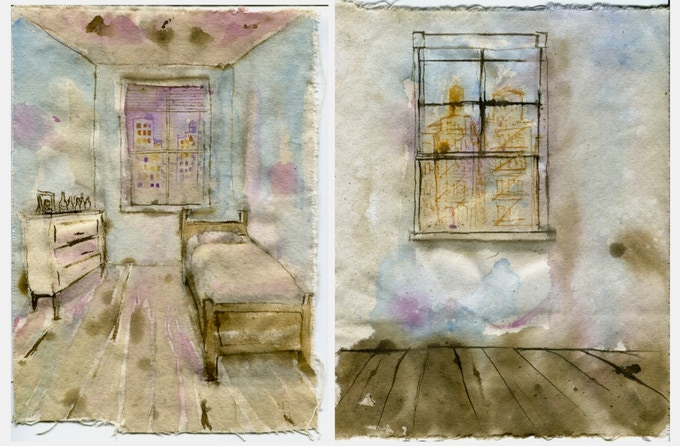 Sketches of the set by Nicholas Biagetti