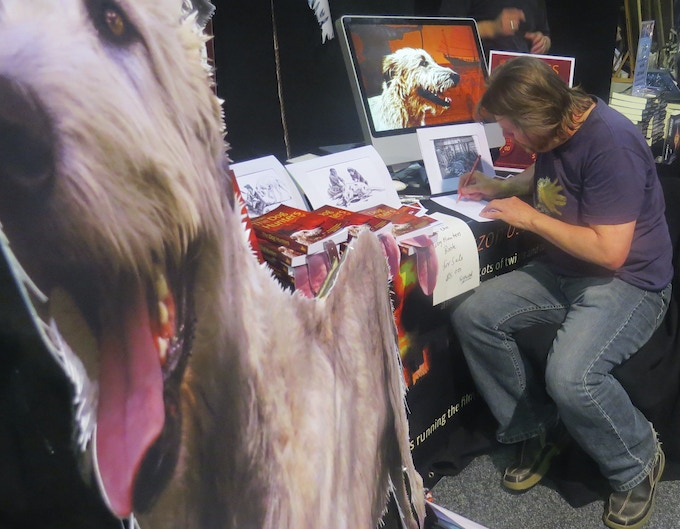 Me trying to keep up with demand for 'Live' drawings at Armageddon
