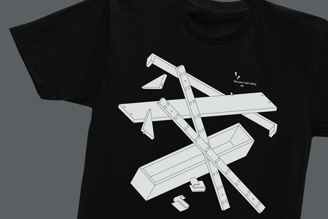 T-Shirt (black), close-up, designed by Daniel Julien