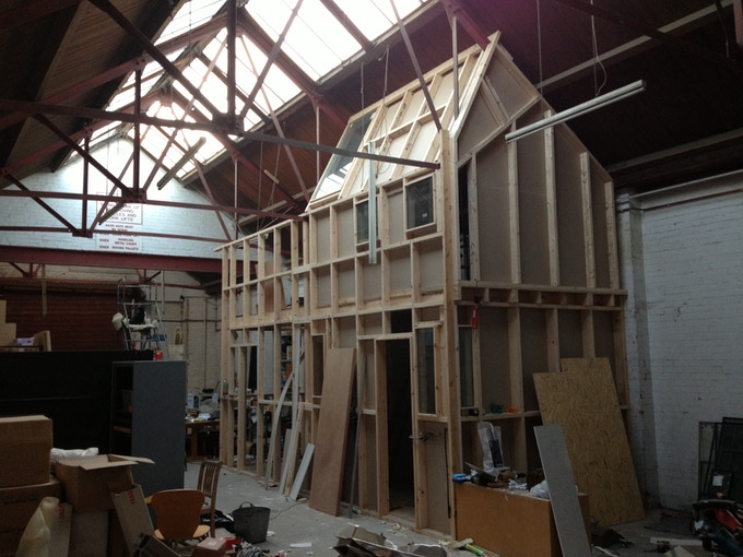 The studios under constuction