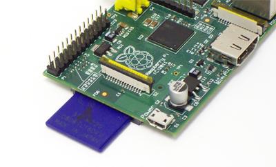 Raspberry Pi with standard SD card