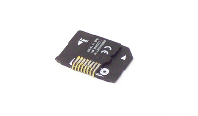 Alpha prototype with a micro SD card attached.