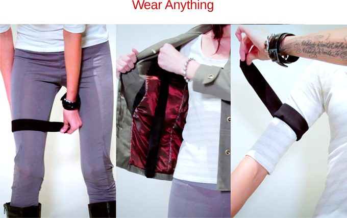 Quickly attach and remove kit from your own clothing. Wear it in multiple ways.