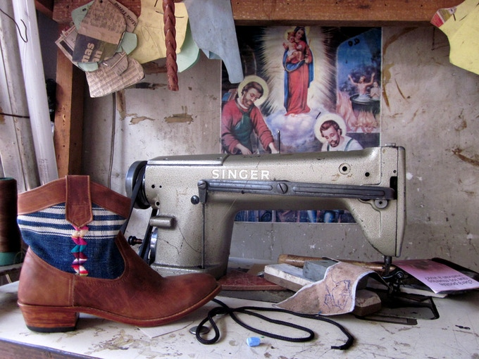 Boot-making with a Singer