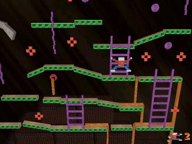 Jumpman Zero, a sort of trippy 3D-ish take on Jumpman