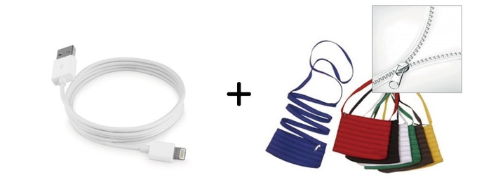 Cable in Case by Zipper