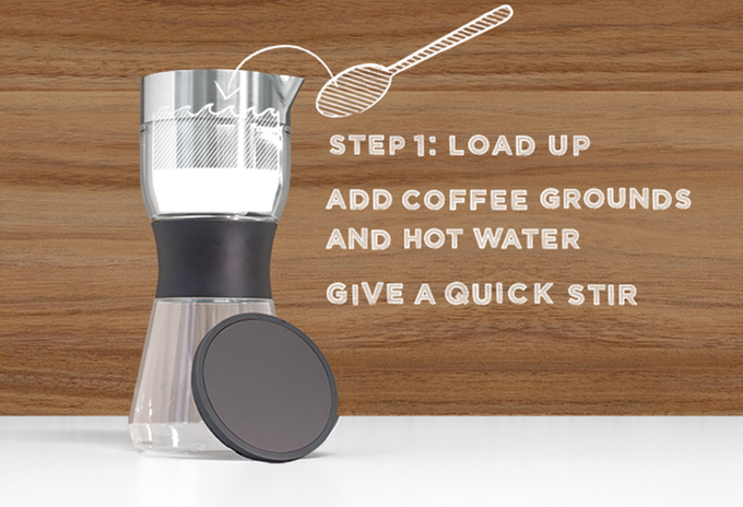 Start with 40 grams of medium-course ground coffee. Because we're here to help, our filter has a guideline that shows the right amount of coffee. Adjust up and down until you find your Goldilocks strength.