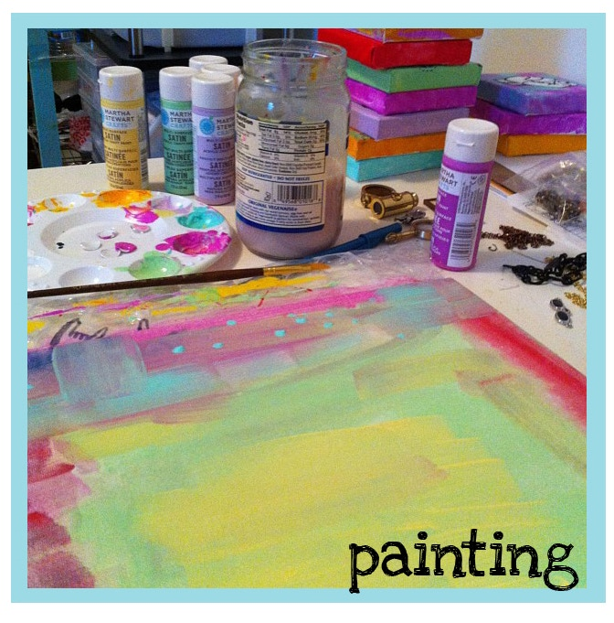 In the process of painting YOUR potential paintings!