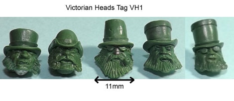 Victorian Heads TAG VH1 Add-On Price £4