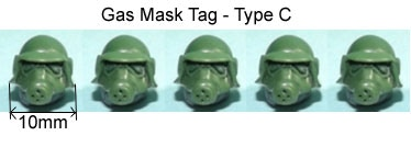 Gas Mask Tag C Add-On Price £4.00