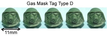 Gas Mask Tag D Add-On Price £4.00