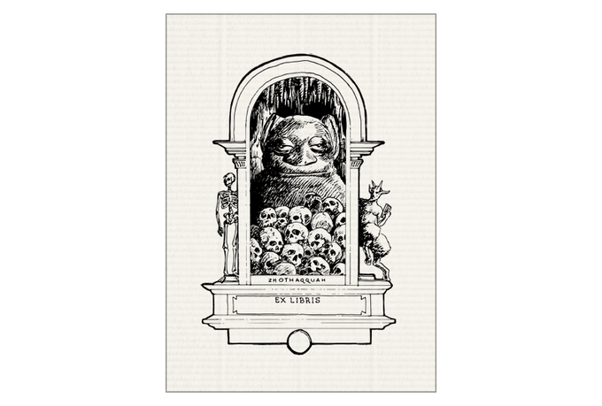 (#6) Tsathoggua, inspired by the sculpture and writings of Clark Ashton Smith