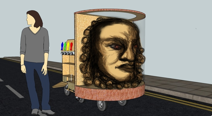 To-Scale Artistic Design of the Face of Booze Contraption