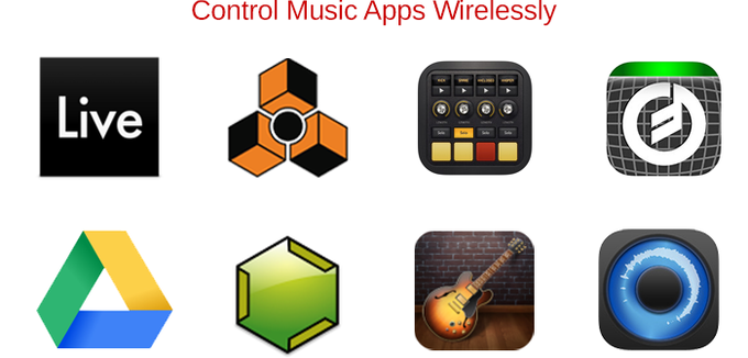 Send notes and signals from the DrumPants to any app that accepts MIDI or OSC.