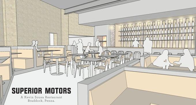 Conceptual rendering of Superior Motors interior