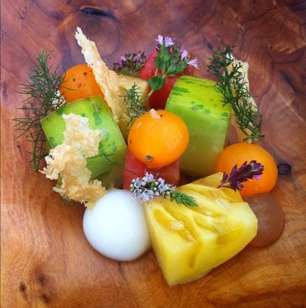 tomatoes, parmesan, dashi, herbs