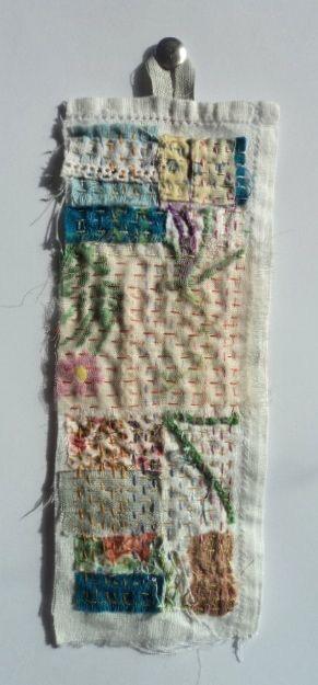 """Elena Thomas """"Our"""" - small textile piece measuring 27x7cm £15"""