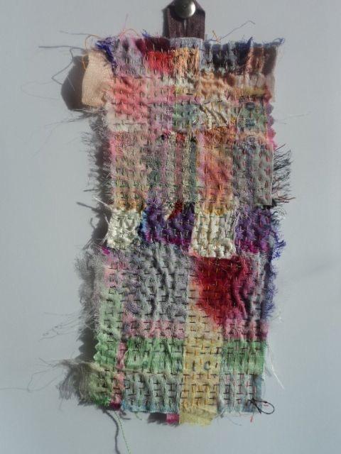 """Elena Thomas """"Stitch"""" - small textile piece measuring 22x10cm £15"""
