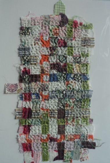 """Elena Thomas """"Not a Stitch On"""" - textile piece measuring 17x30cm £40"""